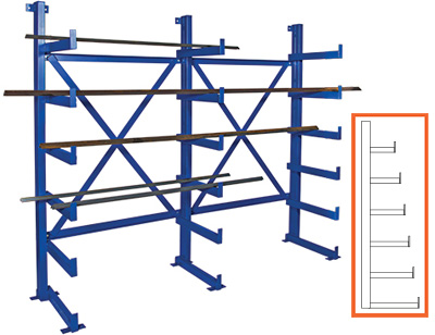 cantilever bar rack